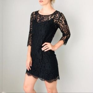 HD In Paris Anthropologie Black Lace Overlay Overt
